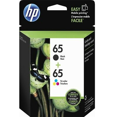 HP 65 Ink 2 Pack Genuine Black and Tri-Color Combo Set T0A36AN N9K02AN N9K01AN