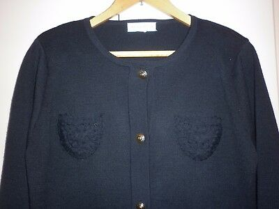 Vintage Meredith Black Knit Suit Size M Excellent Condition