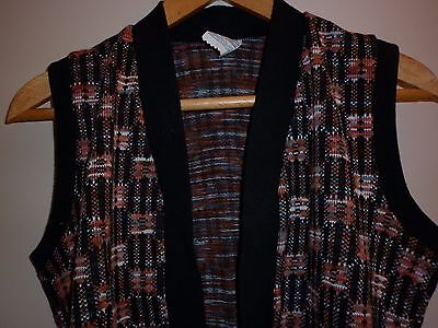 VINTAGE 1960s GROOVY CHECK VEST  EXCELLENT CONDITION