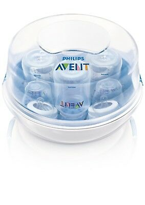 Compact Lightweight New Philips AVENT BPA-Free Fast Microwave Steam Sterilizer!