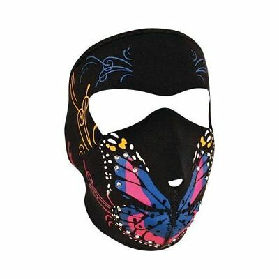 Zanheadgear WNFM041B Full Mask Neoprene Highway Honey Butterfly with Rhinestones