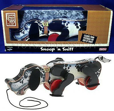 NEW - SNOOP 'N SNIFF Fisher Price WOOD PULL TOY - 1938 Reproduction 2009 NEW