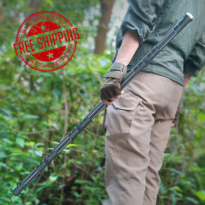 New Multifunction Combination Trekking Pole Self Protect Stick Field Survival