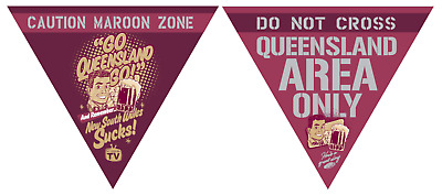 State of Origin Sports Originals Qld party pack ( bunting and balloons)