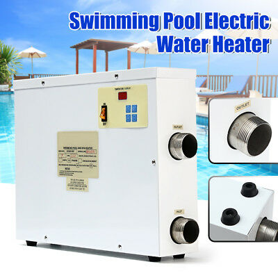 9KW 220V Digital Bath Swimming Pool SPA Electric Water Heater Thermostat Hot Tub