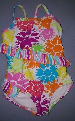 hanna andersson baby girl floral one peice swimsuite size 80