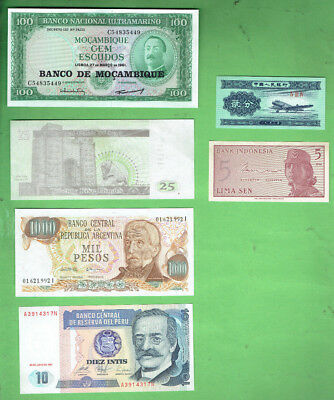 #d343.  4.   Ten  World  Banknotes