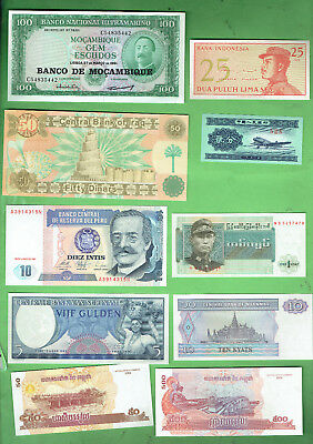 #d343.  8.   Ten  World  Banknotes