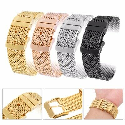 18-24mm Replacement STAINLESS STEEL DIVE SHARK MESH BUCKLE  WATCH STRAP BAND