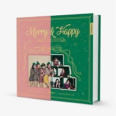 Twice-[Merry&Happy]1st Repackage Random CD+Poster+Book+Card+etc+PreOrder+Gift