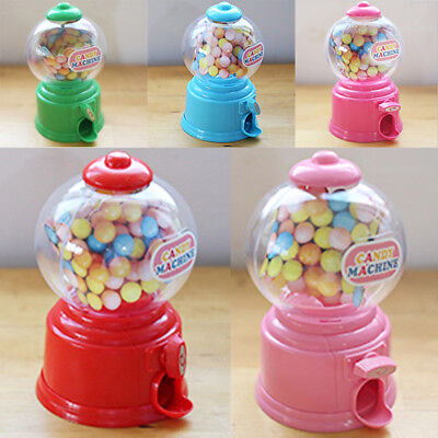 Mini Cute Candy Gumball Jelly Beans Sugar Vending Machine Snack Dispenser 5Color