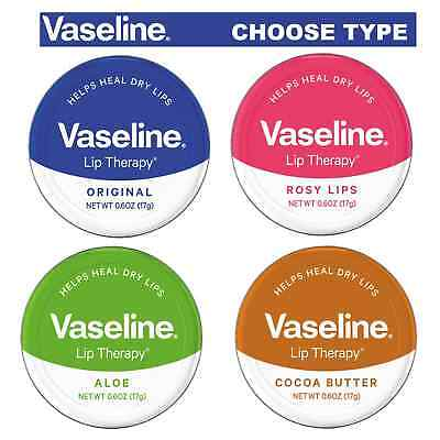 Vaseline Lip Balm 20G Petroleum Jelly Rosy Lips Cocoa Butter Aloe Vera Original