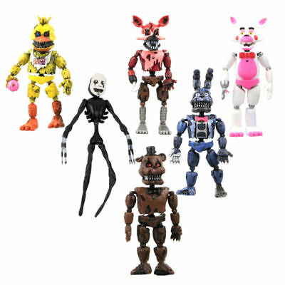 Removable Five Nights at Freddy's Series 2 Nightmare Action Figures Toy Gift 6pc