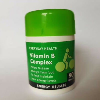 EDH Vitamin B Complex 90 180 270 360 Tablets Energy Release and Metabolism