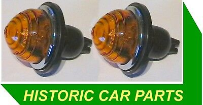 AMBER INDICATOR ASSY x 1-1940-70s 12v replaces Lucas L488 53395