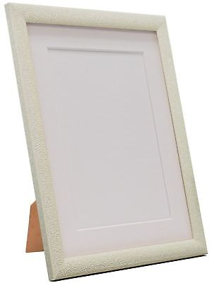 Glitz Cream Picture Photo Frame with White, Black, Ivory and other Colour Mount
