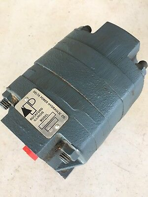 Delta Power Hydraaulic, P23-D Rotary Flow Divider, Motor, Pump. Free Shipping