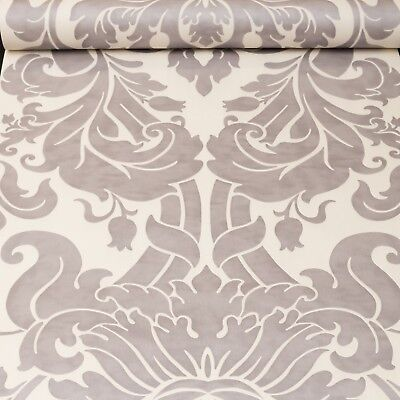Rasch Grey Silver White Floral Damask Wallpaper Paste The Wall 546439 Luxury