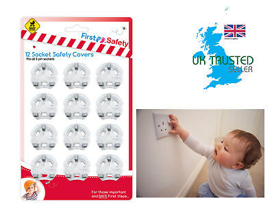 Baby Socket Inserts Electrical Uk Main Plug Cover Security Guard 12pk