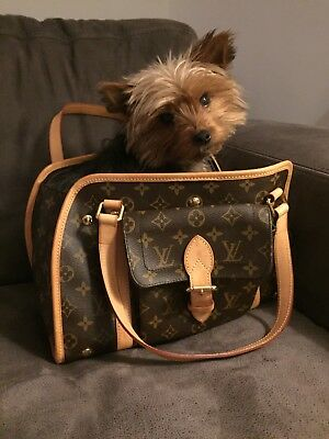 Louis Vuitton: Authentic Monogram carrier for dog, chien, hond