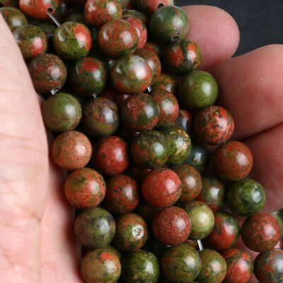 """Wholesale Natural 6/8/10mm Gemstone Round Spacer Loose Beads 15"""""""