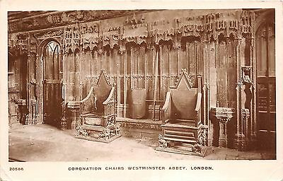 B85946 coronation chairs westminster abbey london uk & LONDON: CORONATION Chairs Westminster Abbey RP Old PC - £4.00 ...