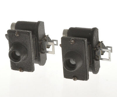 United Optical rare couple of black Merlin cameras with different finishes