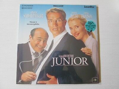 JUNIOR Ivan Reitman LASERDISC FILM MOVIE ARNOLD SCHWARZNEGGER LASER DISC