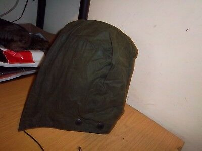 Barbour Green Wire Framed Waxed Hood Size L Beaufort Bedale Border Gamefair