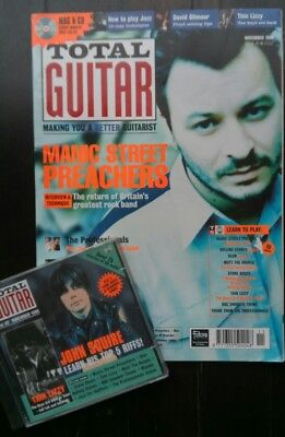 Total Guitar Magazine Issue 49, Nov 1998 with CD,  great condition.