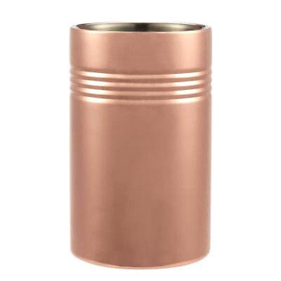 Wine Chiller - Ice Bucket - Copper Plated Stainless Steel Wine Cooler - Double W
