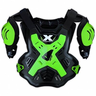 UFO X-CONCEPT Chest Protection in Fluo Green - UFO Motocross & Enduro Body Prote