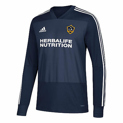 LA Galaxy Training Top Long Sleeve Shirt Navy Mens Football adidas