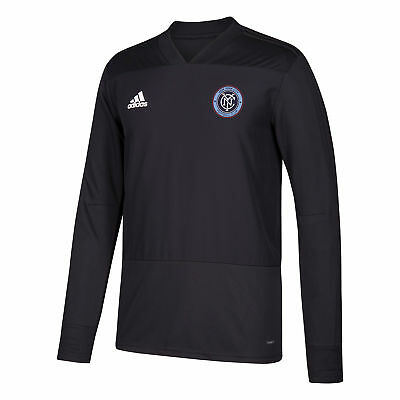New York City FC Training Top Long Sleeve Shirt Dark Grey Mens Football adidas