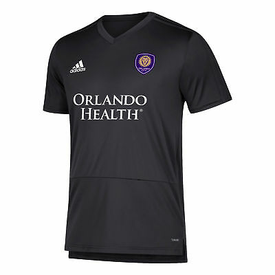 Orlando City SC Training Top Short Sleeve Shirt Dark Grey Mens Football adidas