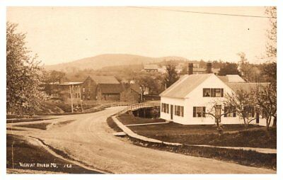 Maine Union,  View of Town and Bridge , RPC