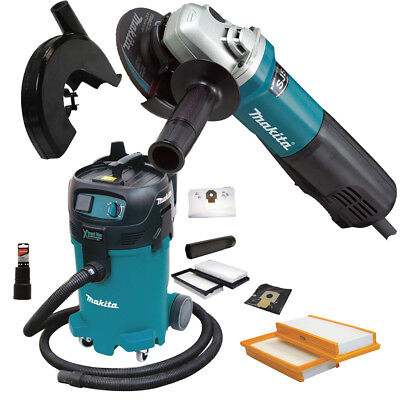 "Makita 9564PC SJS 4-1/2"" Angle Grinder with Dust Guard and HEPA Vac New"