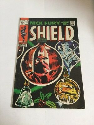Nick Fury Agent Of Shield 10 Vg Very Good 4.0 Rust On Staple Silver Age