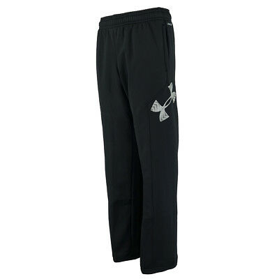 Under Armour Boys' UA Storm Armour Fleece Big Logo Pants Black/Steel M
