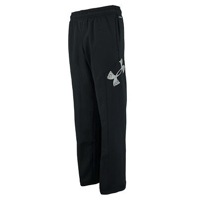 Under Armour Boys' UA Storm Armour Fleece Big Logo Pants Black/Steel L