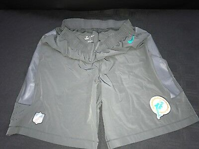 e99c25781a2 Miami Dolphins Team Issued game Used Throwback Dri-Fit Shorts W pockets Rare