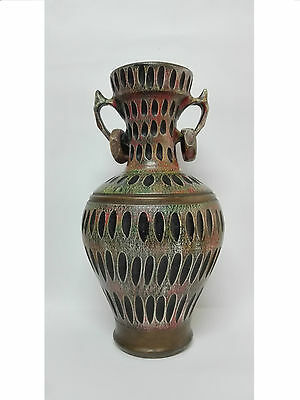 Great Vase Amphora in ceramic Years 80 Vintage Rare and unusual. 45cm height