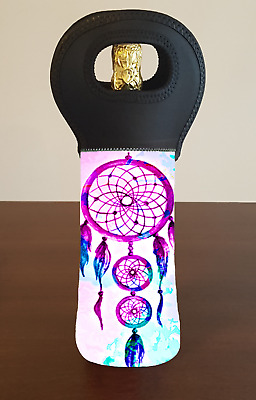 Mandala Dream catcher Bohemian Wine Bottle Cooler Bag