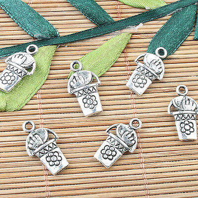 28pcs tibetan silver color 2sided stars tower design charms EF0952
