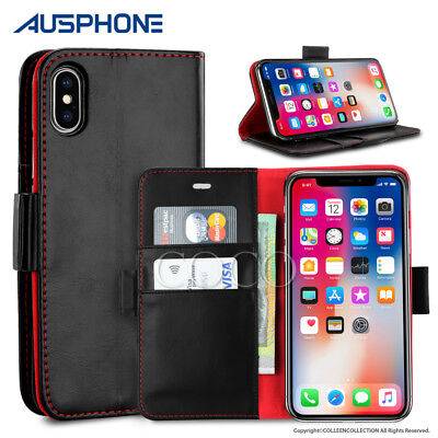 Luxury Flip Cover Black Wallet Card Leather Case Stand For  iPhone XS Max XR 8 7