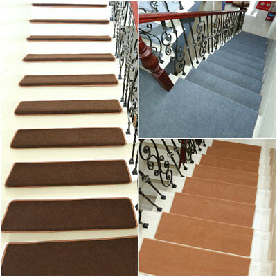 5pcs Non-slip Carpet Stair Treads Mats Staircase Step Rug Protection Cover Set