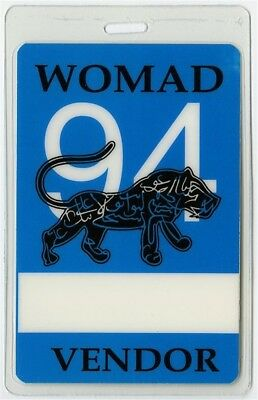 Womad Arts Festival Laminated Backstage Pass Peter Gabriel Live Midnight Oil