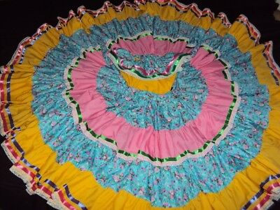 Mexican Folklorico Sinaloa Dress,2 Pcs,Size,6-7