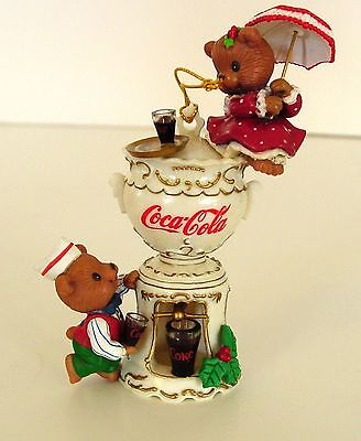 COCA-COLA URN ORNAMENT Century Of Good Taste Soda Fountain Coke Enesco 1996 NOS