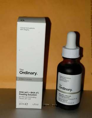 The Ordinary AHA 30% BHA 2% PEELING SOLUTION 10-Min Exfoliating Facial 1 Oz BNIB